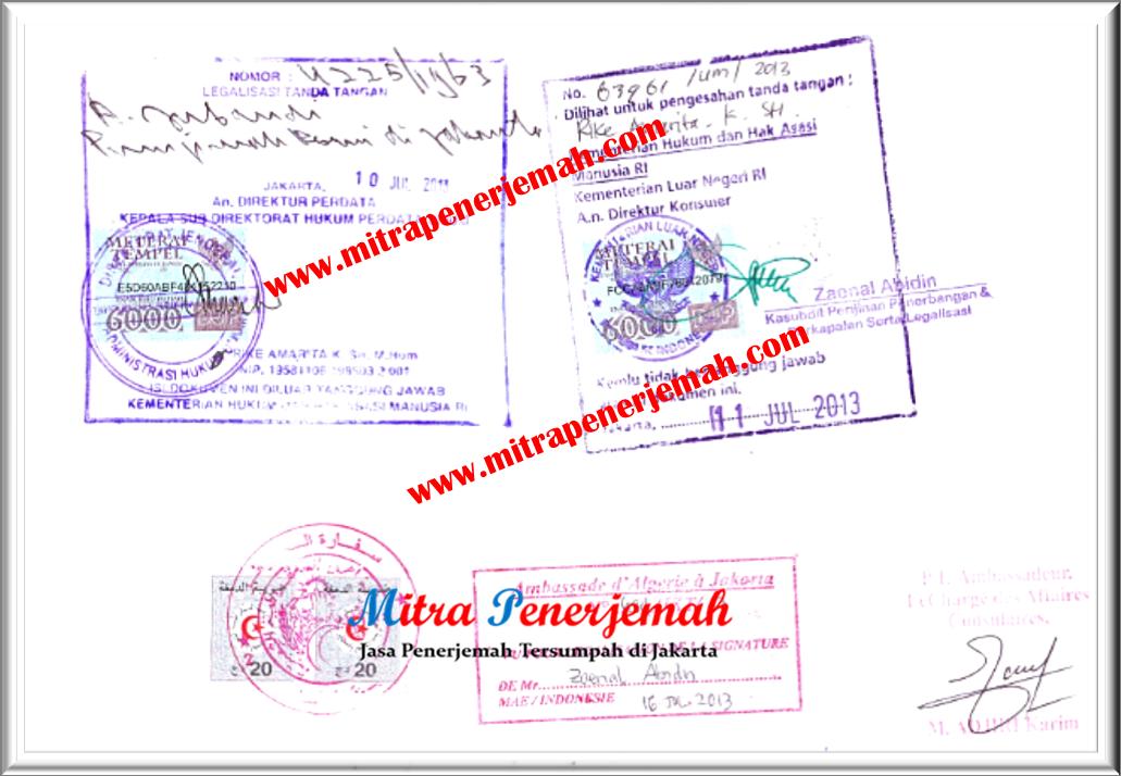 Legalisasi Dokumen di Kedutaan Al Jazair