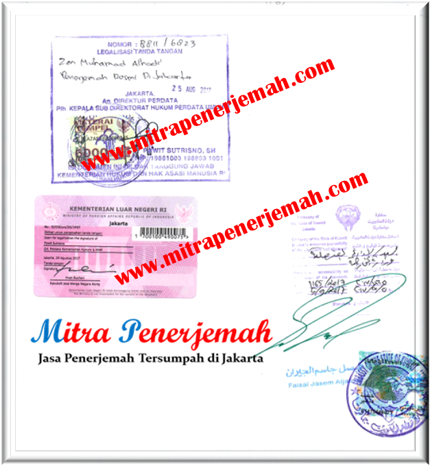 Legalisasi Dokumen di Kedutaan Kuwait